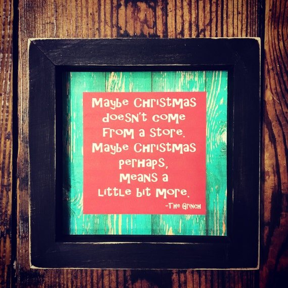 Grinch Rustic Shadowbox Quote