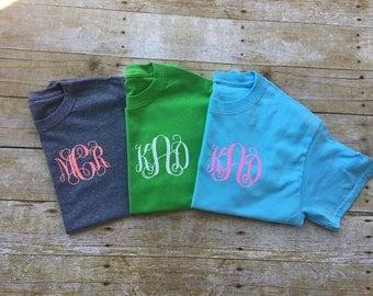 Flash Sale, Monogram T-shirt, Womens Monogram Shirt, Monogrammed Shirt, Womens Monogram T-shirt