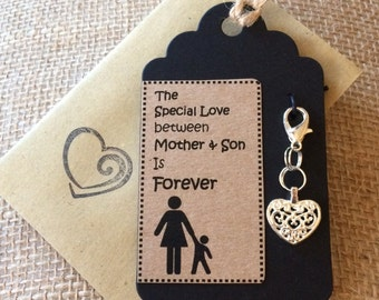 Clip on charm - Mother and Son Gift