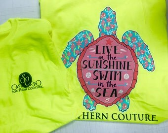 Southern Couture Live in the sunshine tee shirt NEW