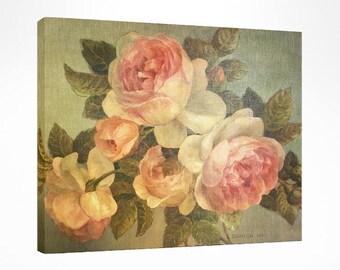 Pink Peonies Canvas Art - PEONY CANVAS ART - Wall Decor, Peony Painting, English Garden, Home Decor Wall Art, Pictureframe, Canvas Print Art
