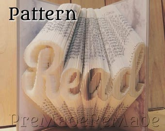 Read v24 - Folded Book Art Pattern - Combination Fold - Instant Download!