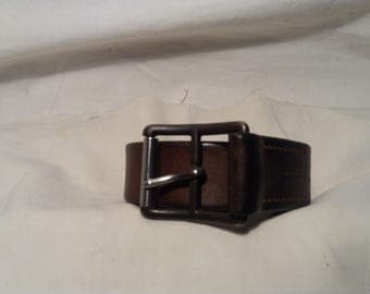 Vintage 1935's Swiss Army Soldier Leather Belt