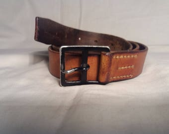 Vintage 1979's Swiss Army Soldier Leather Belt