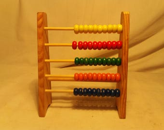 Vintage Handmade Wooden Child Mathematical Device - NEW