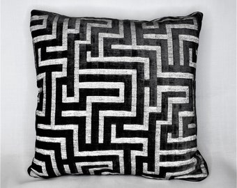 gray grey neutral white velvet modern decorative throw pillow for sofa chair or couch made