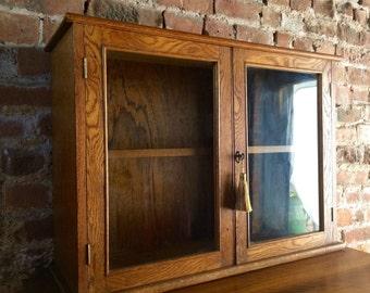 Golden Oak Mid Century Bookcase Early 20th Century