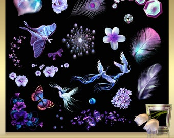 25 dreams clip art vol. 1 Dream clipart - dreams overlays - magic overlays - fantasy clipart - instant download - png files