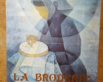 French Art Poster / 1980 / La Broderie