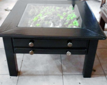 Plant green table, green table, frame plant, green table, frame, framework, organic artwork bark lichen, plant design, green