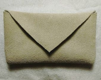 Smoked Colored Buckskin Business Card/ID Case
