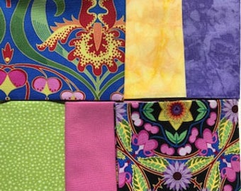 6 FQs, Fat Quarter Bundle, Fabrics