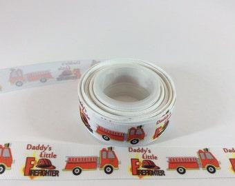 Fire ribbons, medical ribbon, firefighter ribbons, emergency ribbons, healthcare ribbons, truck ribbons, 7/8 inch Grosgrain ribbons