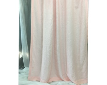 Pink linen curtain,custom curtains, extra long curtains, Custom Curtains
