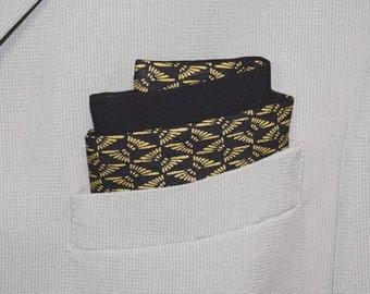 Men's Pocket Square Accessory Vintage Japanese Kimono Fabric - Tiny Floral