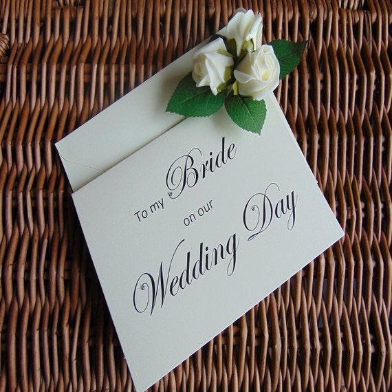 to my bride on our wedding day to my bride card wedding card