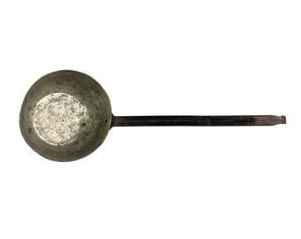 Moonshiner Ladle 15 In w Forged Iron Handle Antique Americana