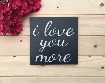 Love You More Wall Art love you more | etsy