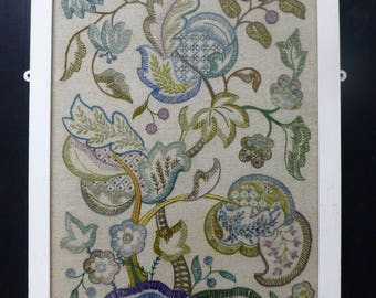 Glazed Embroidered Fire Screen Panel