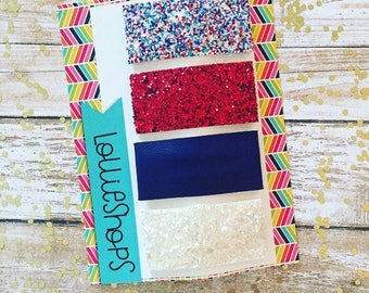 PATRIOTIC snap clip pack : four pack snap hair clips