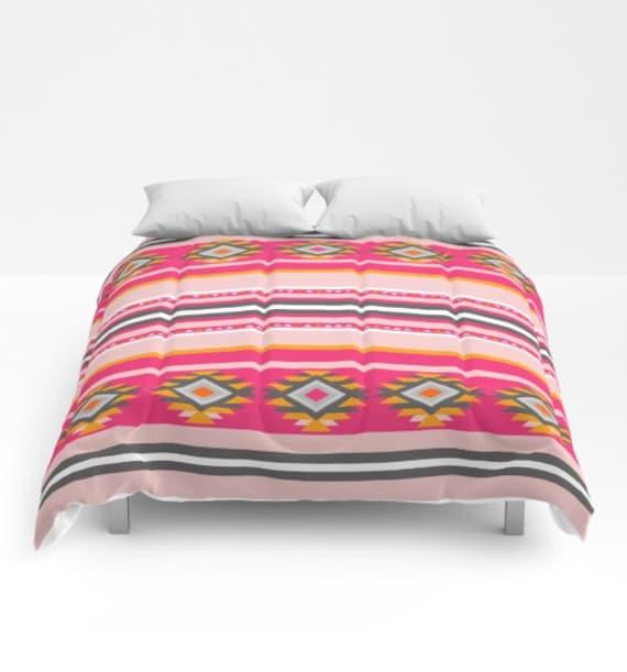 Items Similar To Comforter Aztec Tribal Rose Quartz Blush