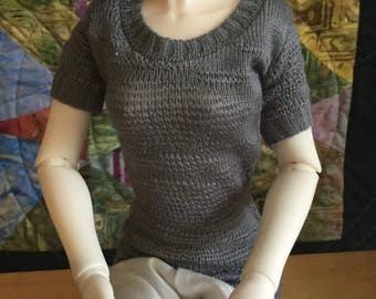 SD girls grey textured sweater