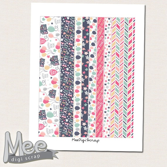 Dynamic image with printable washi tape