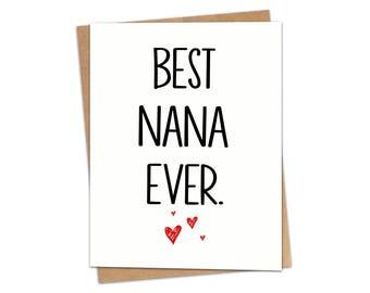 Best Nana Ever Greeting Card SKU C106