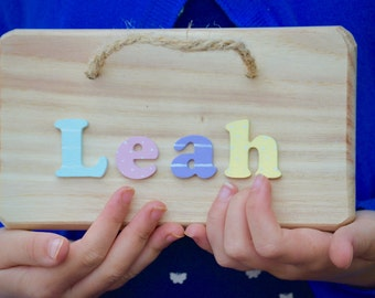 Kids Name Plaques Etsy