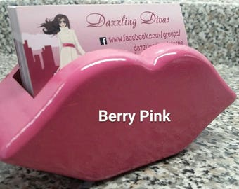 Unique & Whimsical Wooden Lip Business Card Holder or Cell Phone Holder for the Diva, Princess, Lipsense Consultant in your life