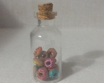 Donut Miniature Bottle Charm