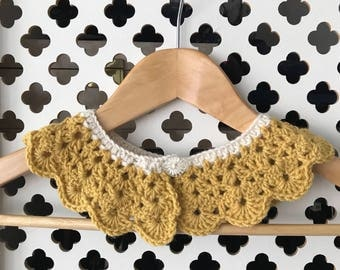 Crochet Peter Pan Collar, Girls or Women's Collar, Girls Peter Pan Collar, Girls Clothing, Women's Collar