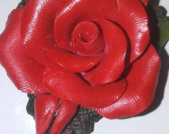 Small Limited Edition Ceramic Red Rose
