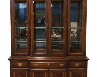 AMERICAN DREW Independence Collection 62u2033 Breakfront China Cabinet  21 840 841