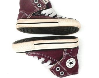 Vintage Converse Chuck Taylor All Star BABY Toddler Hi-Top SHOES PURPLE Size 4