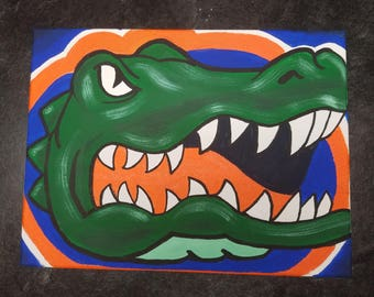 Florida Gator 12 x 16 Canvas Painting