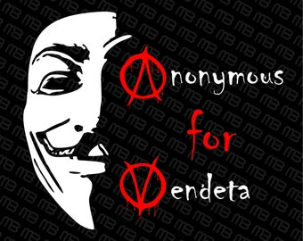 Anonymous for vendeta  SVG, DXF, EPS, Pdf, Cdr, Vector Digital Cut File