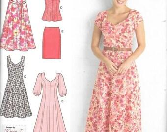 Womens Plus Dresses, Skirt, Tunic, Sizes 20W Thru 28W, New Simplicity Pattern 2917