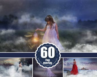 60 fog smoke Photoshop Overlays, Photography overlay, realistic real smoke, mist Overlays, clouds Morning Effect, png file