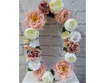 Flower letter nursery/ Floral letter / Flower Nursery girl/ floral wall decor / flower wedding letter/ shabby flower letter/baby girl flower