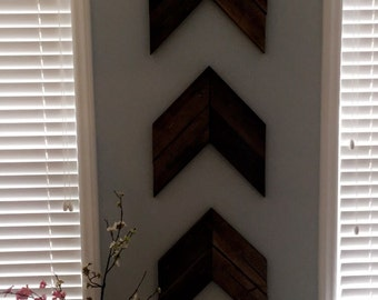 Wood Chevron Arrows qty 3