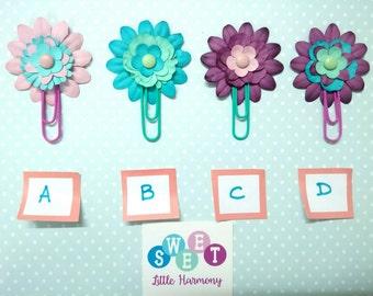 Paper clip flower