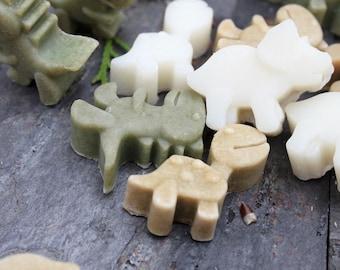 Set of 25 Assorted Green Dinosaur soaps