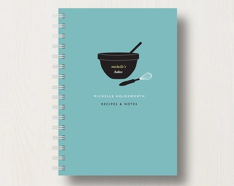 Personalised Baking Lover's Recipe Journal or Notebook