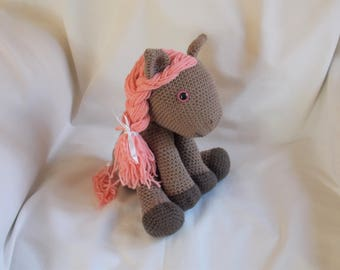 Crochet Pony, Amigurumi Pony, Crochet Horse, Amigurumi Horse, crochet pony soft toy, crochet pony plushie, READY TO POST 2-3 days