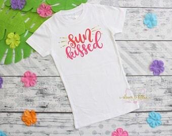 Summer Girls Outfit - Sun Kissed Girls - Summer T-Shirt - Summer Shirt - Girls Shirt - Girls Tee - Girls T-Shirt - First Summer - Beach Girl