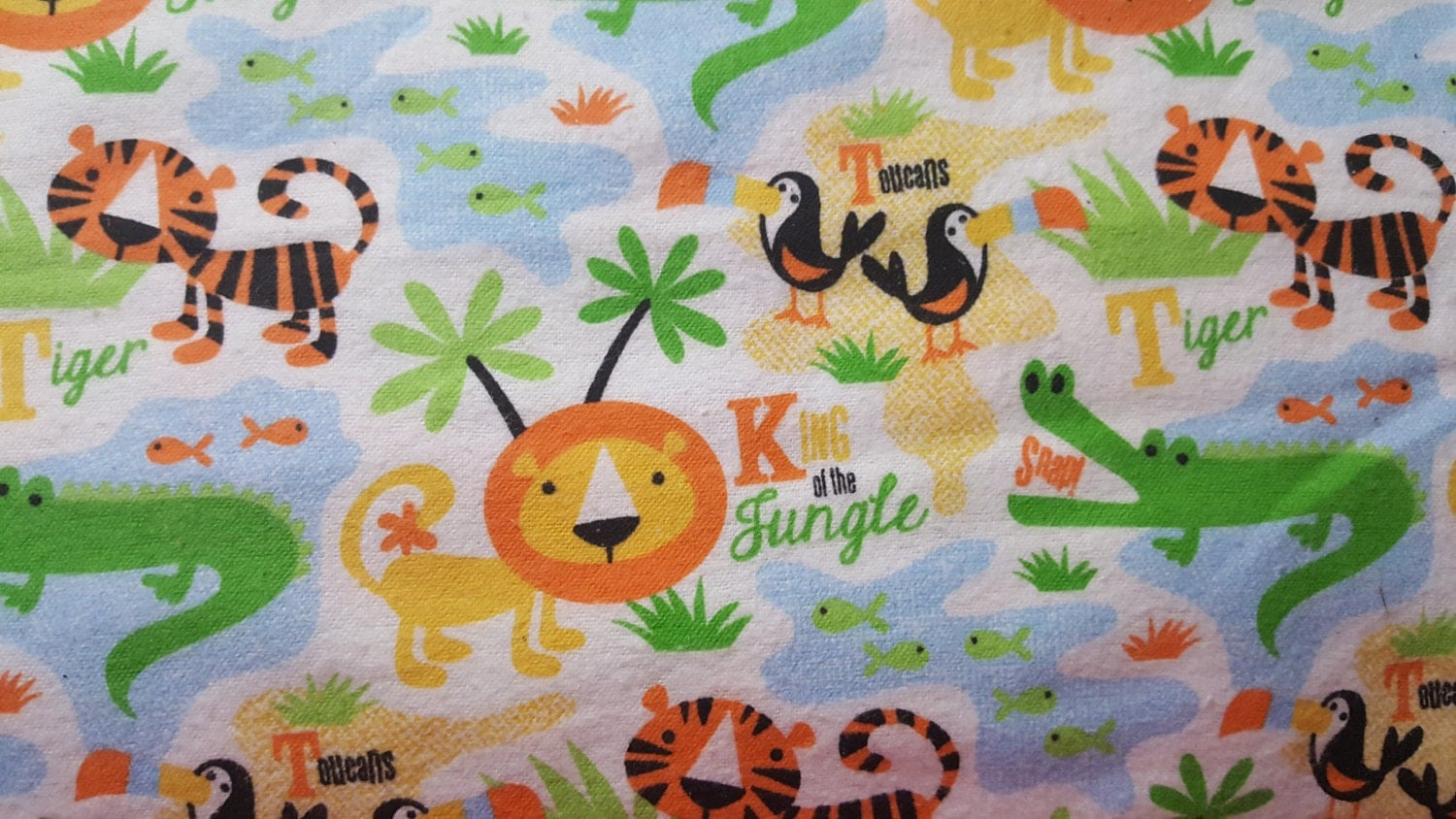 King Of The Jungle Snuggle Flannel Fabric Fabric By The