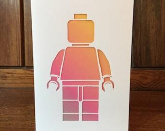 Lego Papercut Card