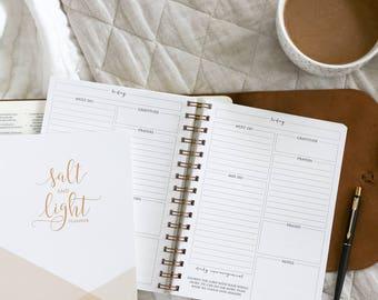 Undated Planner / Salt & Light Undated Planner / Christian Planner / Day Planner / Christian Daily Journal