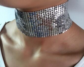 Beautiful silver plated Choker
